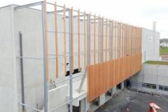 Chaufferie bois : le bâtiment se termine