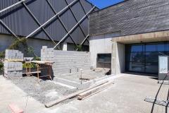 28 mai 2020 : travaux bâtiment côté administratif