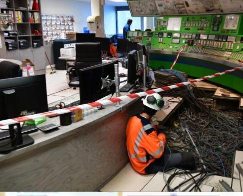 travaux salle des machines